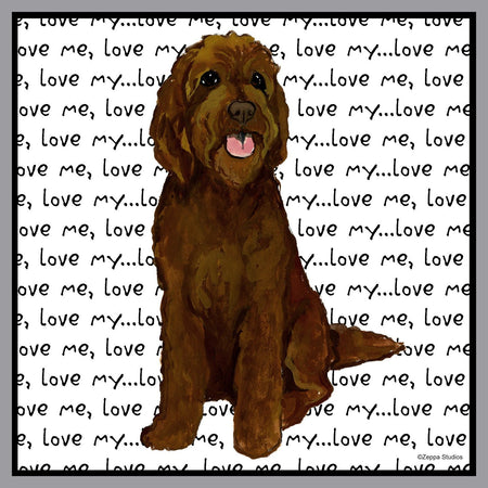 Chocolate Labradoodle Love - Adult Unisex T-Shirt