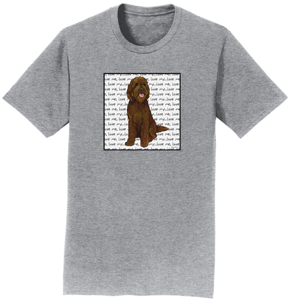 Parker Paws Store - Chocolate Labradoodle Love - Adult Unisex T-Shirt