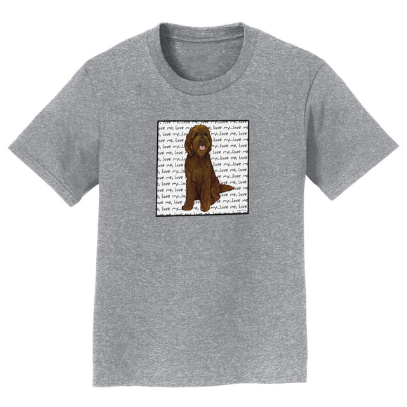 Parker Paws Store - Chocolate Labradoodle Love - Kids' Unisex T-Shirt