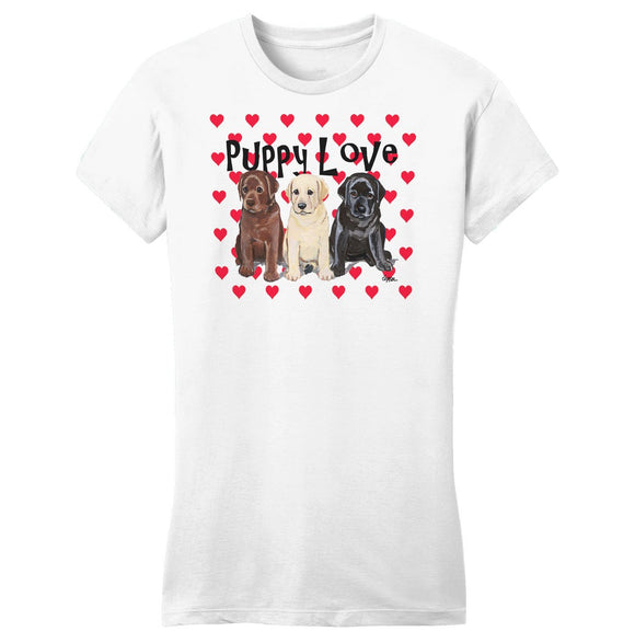 WCLRR - Puppy Love - Women's Fitted T-Shirt