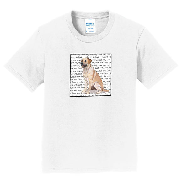 WCLRR - Yellow Lab Love Text - Kids' Unisex T-Shirt