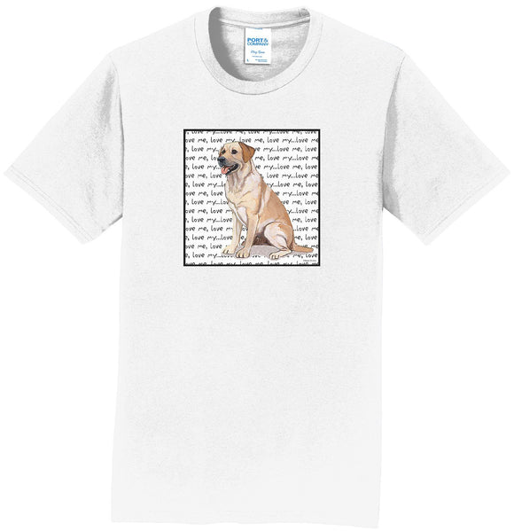 WCLRR - Yellow Lab Love Text - Adult Unisex T-Shirt