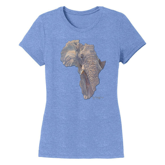 International Elephant Foundation - Elephant Africa - Women's Tri-Blend T-Shirt