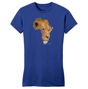 Lion Africa - Women's Fitted T-Shirt