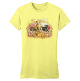 WCLRR - Four Labs on the Couch - Women's Fitted T-Shirt