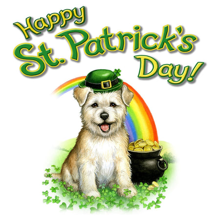 St Patrick's Day Westie - Women's Fitted T-Shirt