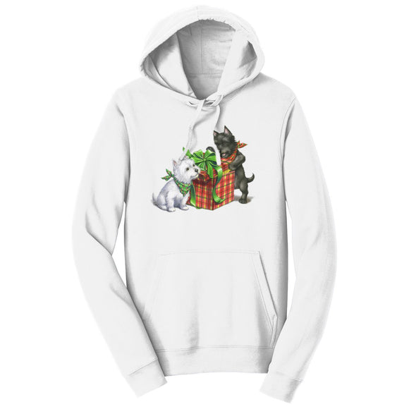 Parker Paws Store - Westie and Scottie Christmas - Adult Unisex Hoodie Sweatshirt