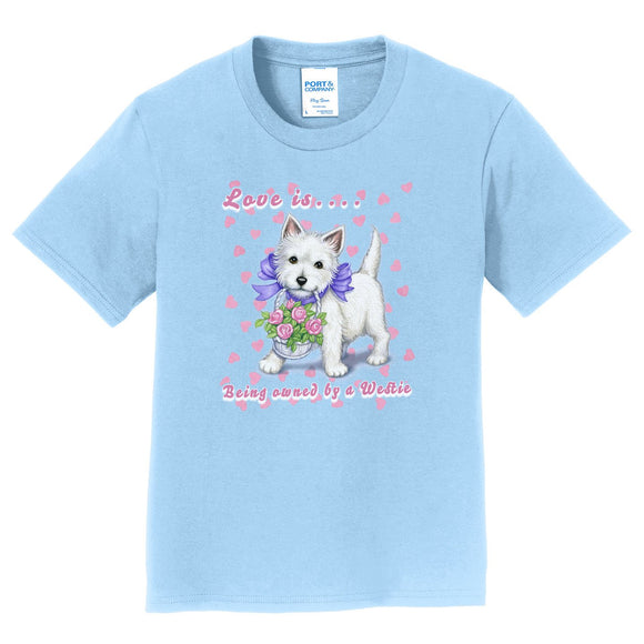 Parker Paws Store - Love is Westie - Kids' Unisex T-Shirt