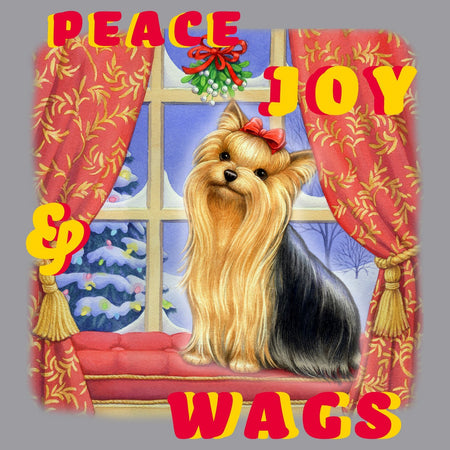 Peace Joy and Wags Yorkie - Kids' Unisex T-Shirt