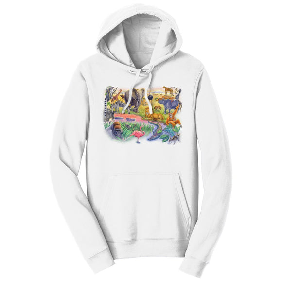 African Animals - Adult Unisex Hoodie Sweatshirt