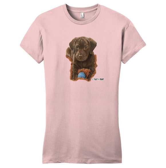 WCLRR - Chocolate Lab Puppy - Women's Fitted T-Shirt