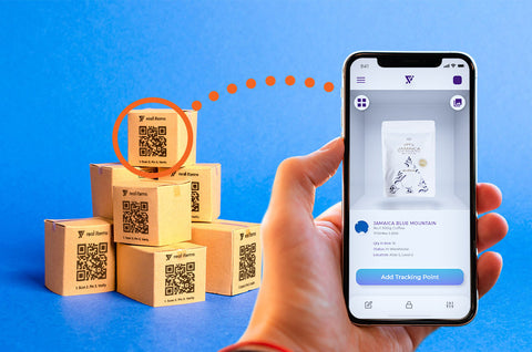 Real Items smart labels digital identity serialized QR code