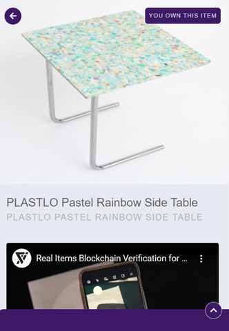 Plastlo rainbow side table digital twin