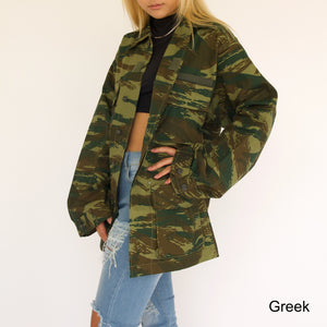 Open image in slideshow, New Camo Military Jacket