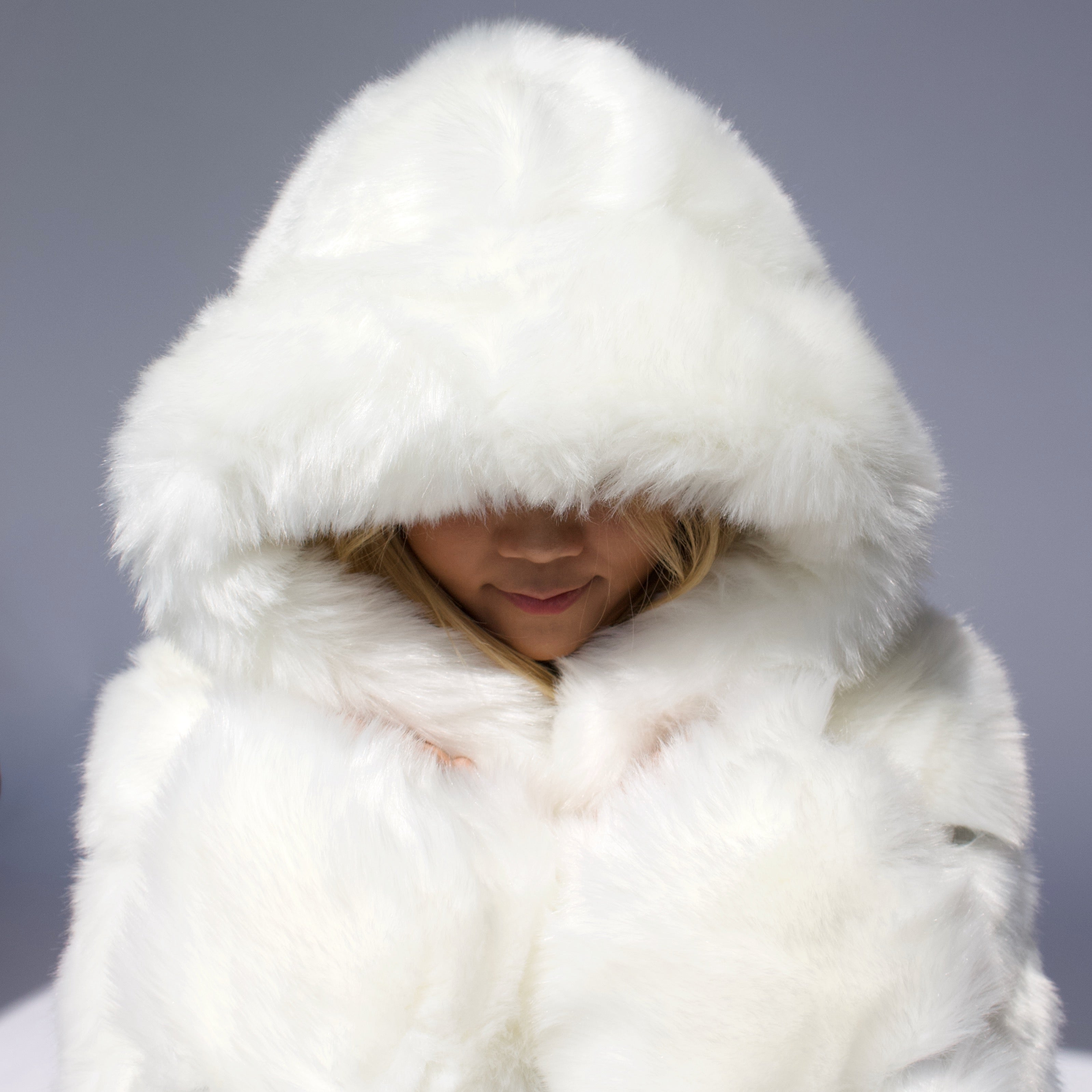 White Vegan Fur Jacket