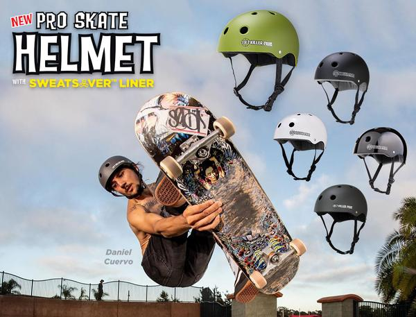 New and Improved - Pro Skate Helmet w/ Sweatsaver Liner