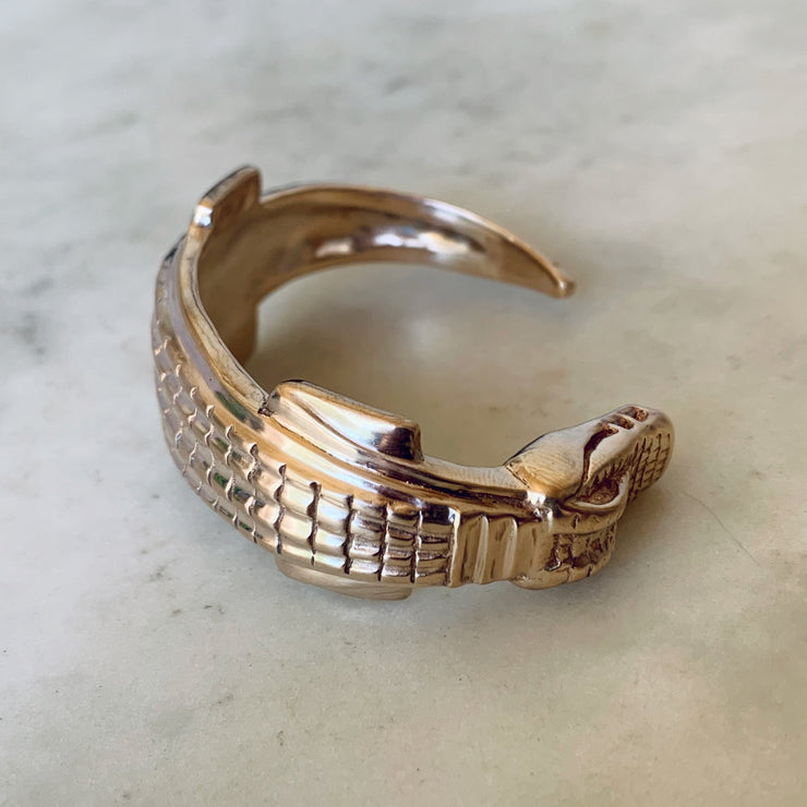 Alligator Bracelet - Bronze