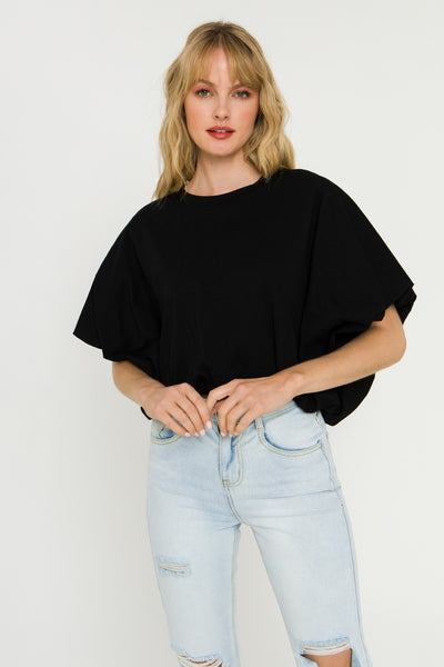 High-Low Cropped T-Shirt
