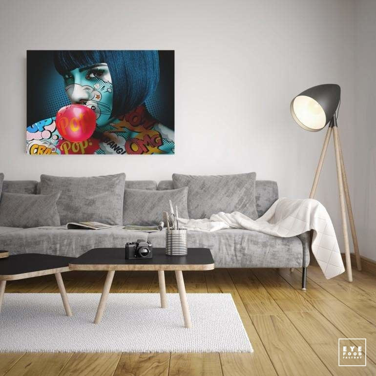 Bubble girl - Éditions Limitées - 120x85cm, 60x42.5cm, @bestsellers, Chewing