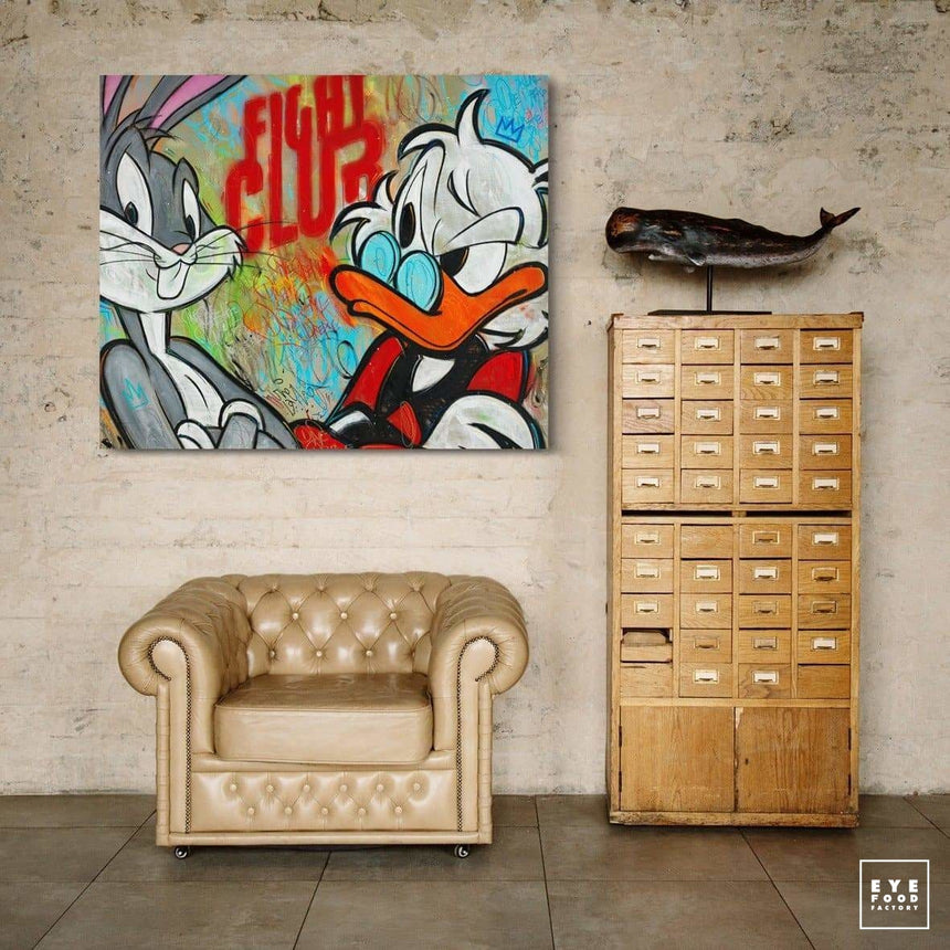 Fight club - Éditions Limitées - @trio160135, Animaux, Boxe, Bugs Bunny, Canard