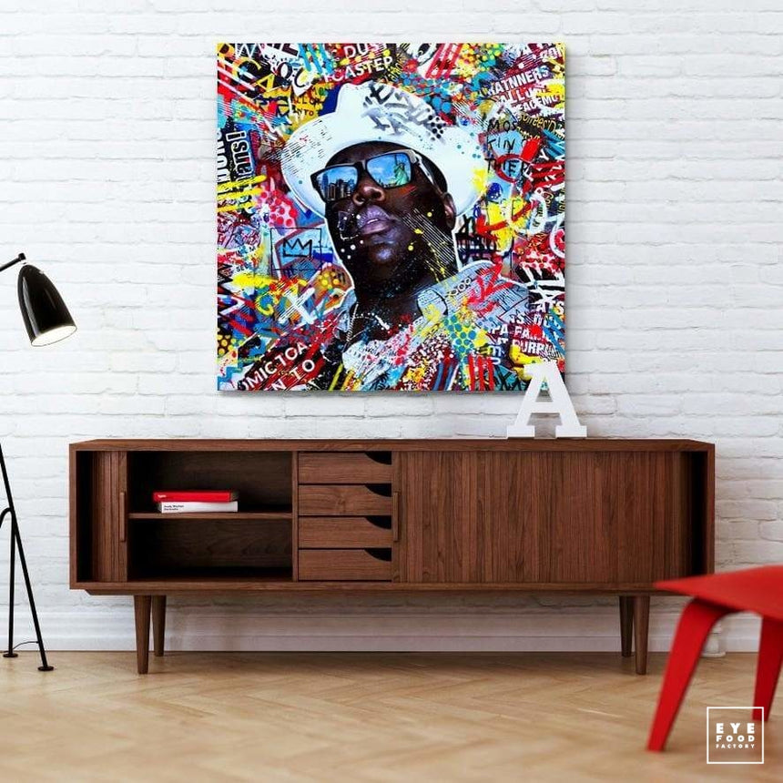 Notorious Big - Éditions Limitées - 100x100cm, 40x40cm, Collage, Compositeur,