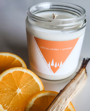 Citrus Cedar + Smoke Candle