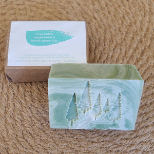 Shea Butter + Peppermint + French Green Clay Soap