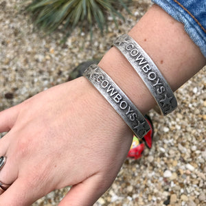 Stamped Cowboys Bangle