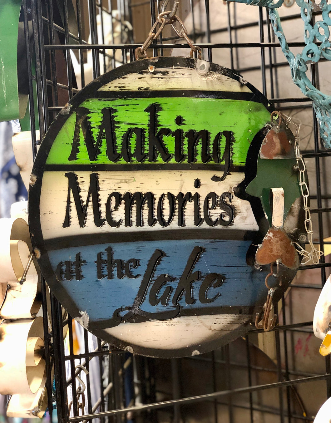 Making Memories At The Lake Small Sign