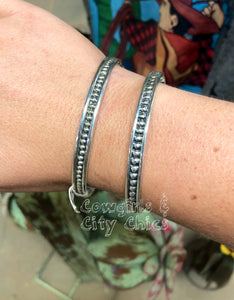 Sterling Silver Stud Bangle