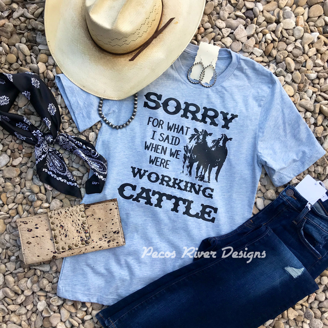 Working Cattle Tee