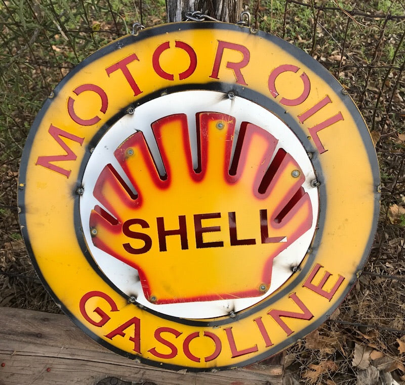 Shell Metal Sign