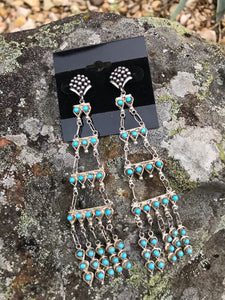 Chandiler Turquoise Earrings