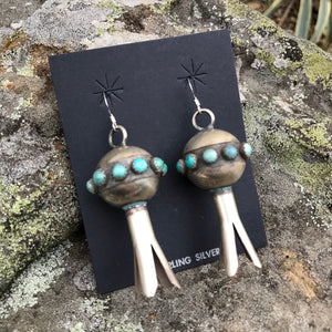 Turquoise Sterling Silver Bloom Earrings