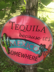 Mexico Somewhere Metal Sign