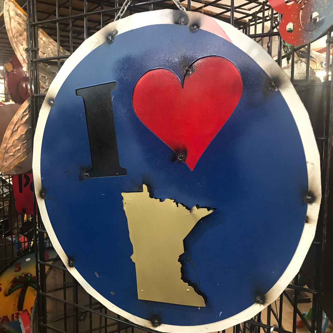 I Love MN Metal Sign