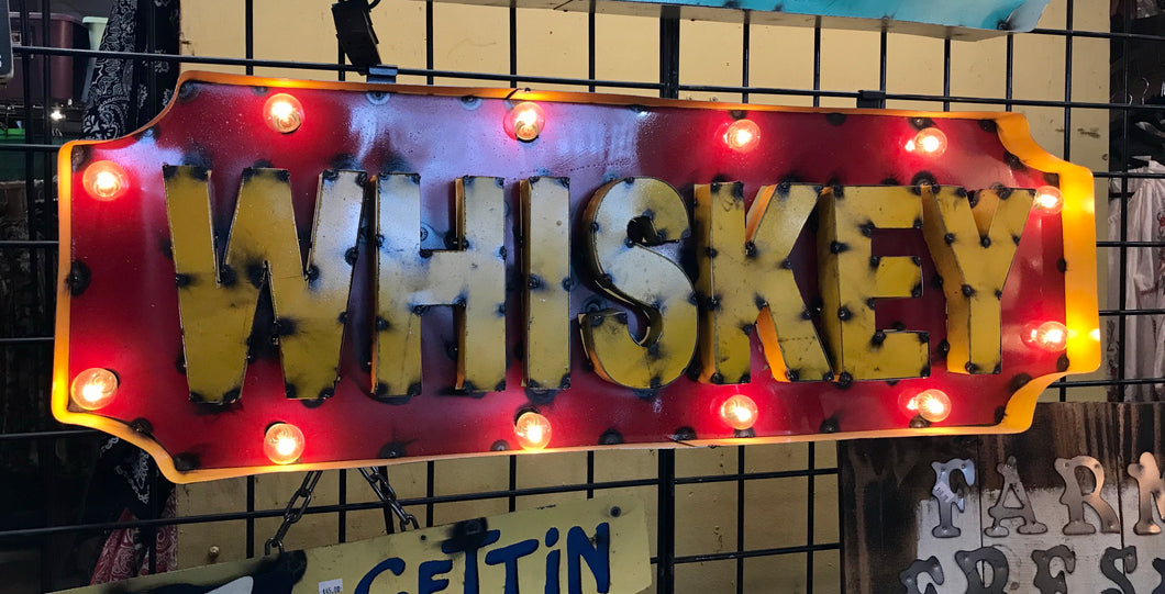 Lighted Whiskey Sign