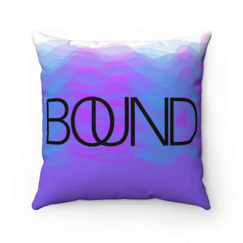 BOUND Sound Waves Faux Suede Square Pillow