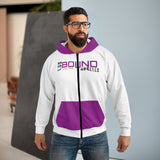 BOUND Sound Wave LA (Purple Accents) - Unisex Zip Hoodie - by: Noah