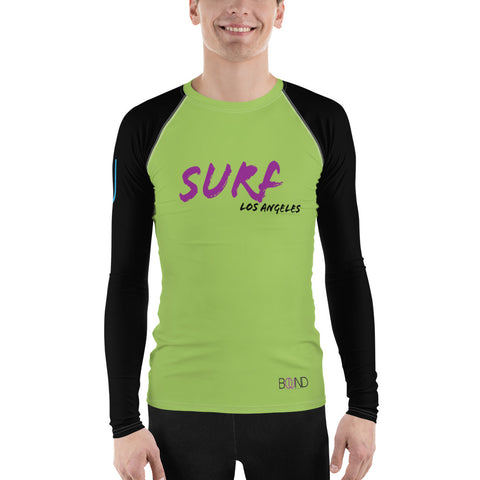 BOUND Surf LA Lime/Black Men's Rash Guard