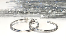 Load image into Gallery viewer, Large Sterling Silver Hoop Earrings