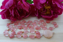 Load image into Gallery viewer, Pink Quartz and Gold Serenity Necklace