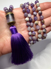 Load image into Gallery viewer, Hand Knotted Amethyst Tassel Necklace