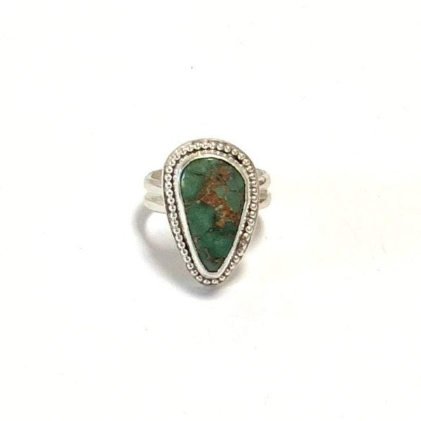 Genuine Turquoise and Sterling Silver Ring - One of a Kind - Size 7