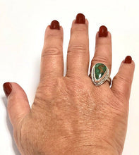 Load image into Gallery viewer, Genuine Turquoise and Sterling Silver Ring - One of a Kind - Size 7