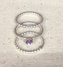 Load image into Gallery viewer, Stacking Amethyst Ring Set