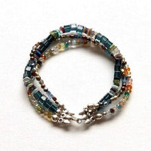 Load image into Gallery viewer, Multi - Gemstone Triple Strand Bracelet