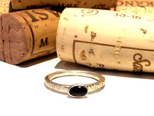 Load image into Gallery viewer, Onyx Stacking Ring Set