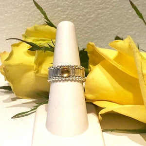 Citrine and Gold Ring Set