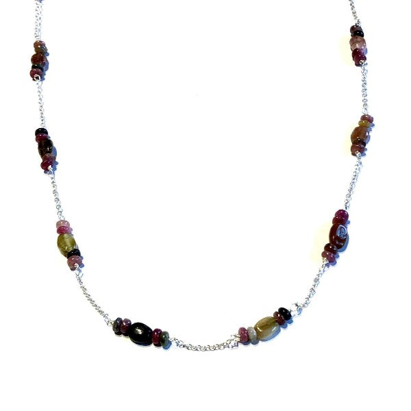 Natural Tourmaline Wrapped Necklace